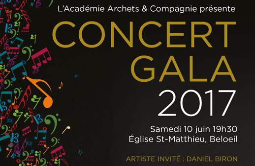 Le concert Gala 2017 de l'Académie
