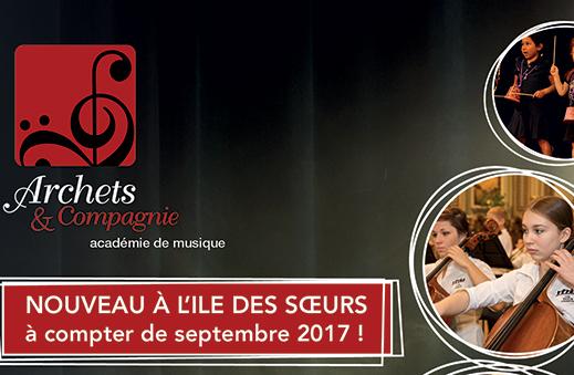NOUVEAU: L'académie offrira des cours de musique à l'Île des Soeurs!